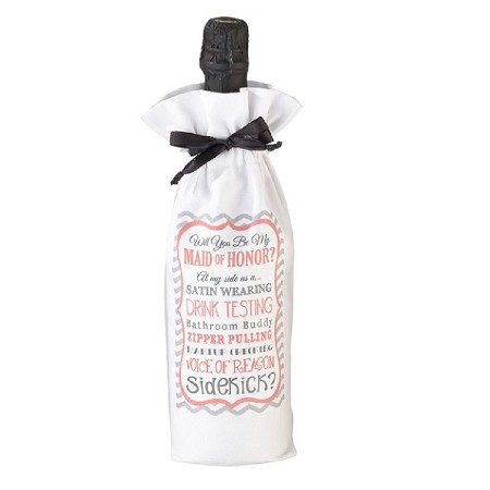 Lillian Rose Will You Be My Maid of Honor/Sidekick Wine Bag