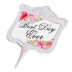 Lillian Rose Watercolor Best Day Ever Cake Topper