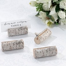 Lillian Rose 4 Rustic Birch Place Card Holders