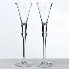 Set Of Tall Flutes -Clear