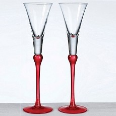 Set of Tall Flutes -Red