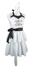 Mrs. Kitchen Apron - White