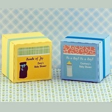 Personalized Boy Baby Shower Square Favor Labels (12)