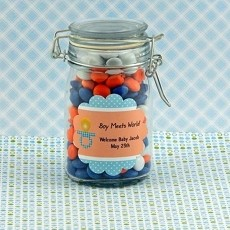 Personalized Boy Baby Shower Scalloped Favor Labels (12)