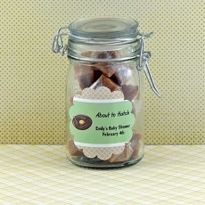 Personalized Baby Shower Scalloped Favor Labels (Set of 12)