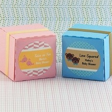 Personalized Twins Baby Shower Round Favor Labels (Set of 20)