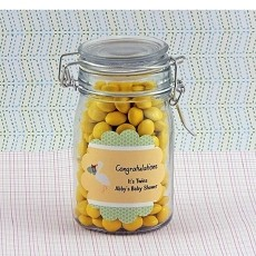 Personalized Twins Baby Shower Scalloped Favor Labels (Set of 12)