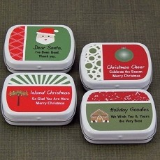 Personalized Christmas Mint Tins (set of 15)