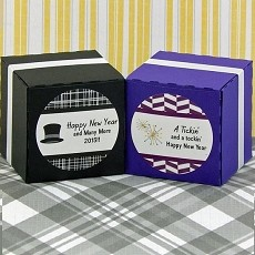 Personalized New Year's Round Favor Labels (Set of 20)