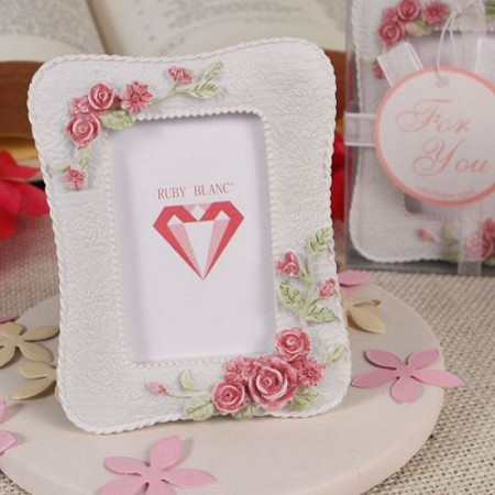 Rose Accents Place Card Holder/Photo Frame