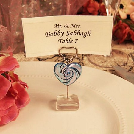 Heart Swirl Arte Murano Photo/Place Card Holder