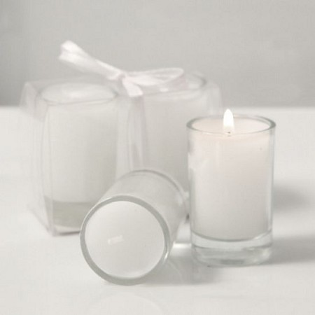 Floral Scented Votive w/Candle (Set of 2)