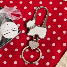 Puppy Love Dog Shaped Key Chain