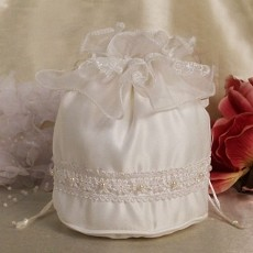 Satin Purse Ivory Bridal Purse