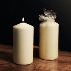 Ivory Tower Medium Pillar Candle