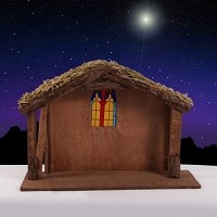 Humble Haven Wooden Stable 12 1/2H x 18W