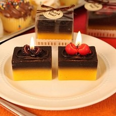 Chocolate Temptation Cake Shaped Candles (Assorted)