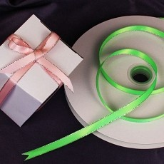 Satin & Silver Satin Ribbon w/ Silver Edge (9 colors)