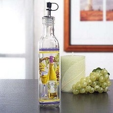 Medium Oil Bottle With White Wine Design
