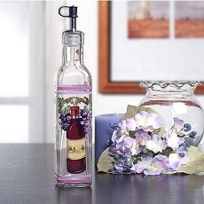 Medium Oil Bottle With Red Wine Design