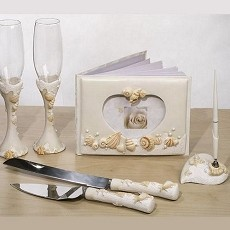 Beach Theme Bridal Accessories Set