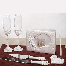 Crystal Calla Lily Wedding Set